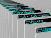 Computer file system Stock Photo