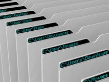 Computer file system Stock Photos
