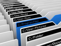 Computer file system illustration Royalty Free Stock Photo