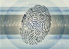 Computer-Fingerabdruck Stockfotos