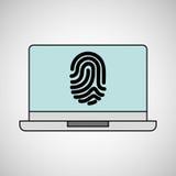 Computer fingerprint secure database. Vector illustration eps 10 Stock Photo