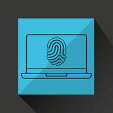 Computer fingerprint secure database. Vector illustration eps 10 Royalty Free Stock Photos