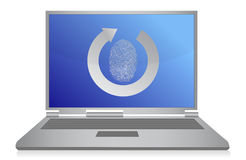 Computer fingerprint security illustration design Stock Photo