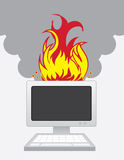 Computer Fire Stock Photos