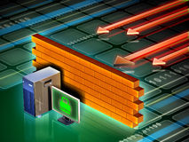 Computer firewall Royalty Free Stock Images