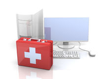 Computer First aid Stock Photography