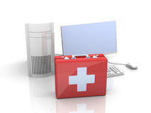 Computer First aid Stock Photo
