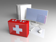 Computer First aid Royalty Free Stock Image