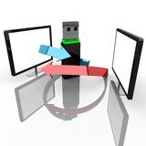 Computer flash drive Royalty Free Stock Images