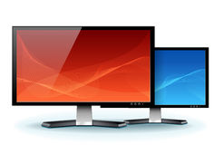 Computer Flat LCD Plasma Monitor Display vector Stock Photos