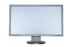 A computer flat wide screen. Isolated on white background Stock Image