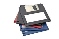 Computer floppy disk. Closeup on white Stock Image