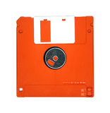 Computer floppy disk. Closeup on white Royalty Free Stock Photography