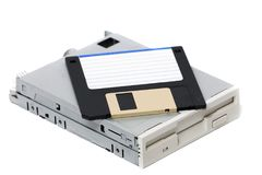 Computer floppy drive Royalty Free Stock Photo