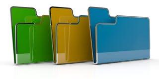 Computer folder Stock Images