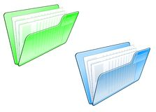 Computer folder icon Stock Photo