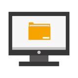 computer folder icon ,  illustration Stock Photos