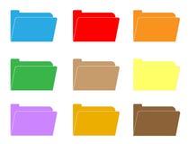 Computer folder icon on white background. folder sign. Flat style. colorful folder icon set Stock Image