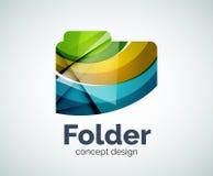 Computer folder logo template Stock Photography
