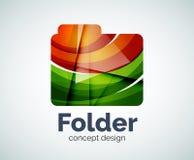 Computer folder logo template Royalty Free Stock Photography
