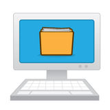 Computer Folder Papers Stock Photography