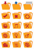 Computer Folder Vector Web Icon Set Royalty Free Stock Photography