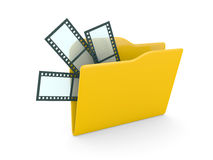 Computer folder from video Stock Photography