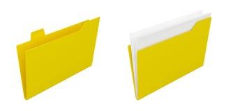 Computer folders Stock Image
