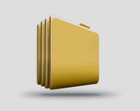 Computer folders Royalty Free Stock Photo