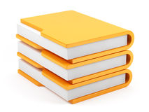 Computer folders stack Royalty Free Stock Images