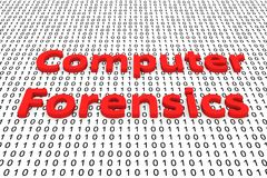 Computer forensics. In the form of binary code, 3D illustration Stock Images