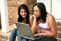 Computer Friends Royalty Free Stock Images