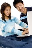 Computer Friends Royalty Free Stock Photos