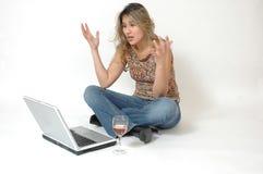 Computer Frustration Stock Image