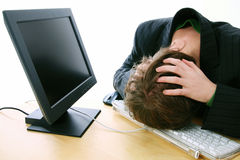 Computer frustration Stock Photography