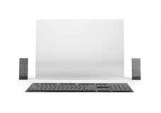 Computer of the future on white background Stock Photography