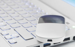 Computer with 4G modem wireless Royalty Free Stock Photography