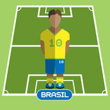 Computer game Brasil Football club player Royalty Free Stock Images