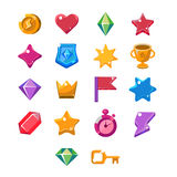 Computer Game Icon Set Stock Photography
