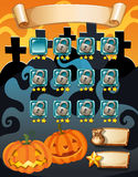 Computer game template with halloween theme Royalty Free Stock Photos
