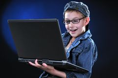 Computer Gamer Royalty Free Stock Photography
