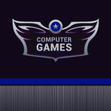 Computer Games  logo. Heraldic style for business company Royalty Free Stock Photos