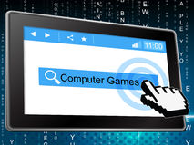 Computer Games Represents World Wide Web And Fun Stock Photo