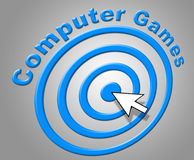 Computer Games Represents Www Online And Pc Stock Images