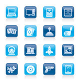 Computer Games tools and Icons. Vector icon set Royalty Free Stock Photo