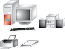 Computer gear Royalty Free Stock Photo