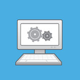 Computer Gears Royalty Free Stock Image