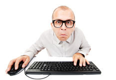 Computer geek Royalty Free Stock Image