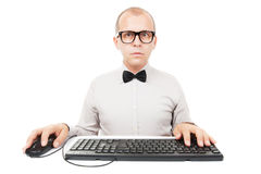Computer geek Stock Photography