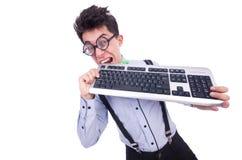 Computer geek nerd Royalty-vrije Stock Afbeeldingen